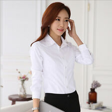 Blouse Top White Shirt New Hot Spring/Summer Stylish Women's Long Sleeve Shirt