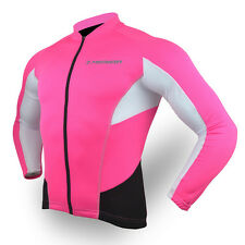 Merida Long Sleeve Womens Bicycle Jersey Cycle Road Bike Top Reflective For Safe