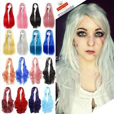 DIY WIG Stylish Straight Wavy Curly Long Cosplay Women Full Hair Wigs Party #KC8