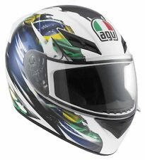AGV K3 Brazil Flag Helmet White/Green/Blue