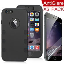 Luxury 360° Full Body Protection Cover Case For iPhone 6 6s+ Clear Screen Films