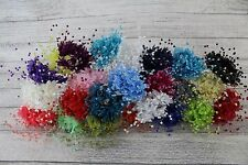 Babies Breath Gypsophila Pearl Flower 24 Colours Card Favour Craft Embellishment