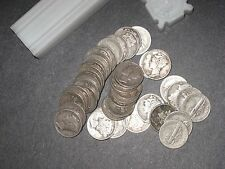 $5 Mercury Dimes - 90% Silver 50-Coin Roll  GOOD OR BETTER