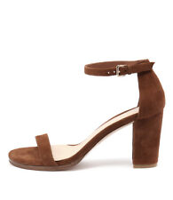 New Top End Amalfi Tan Womens Shoes Dress Sandals Heeled