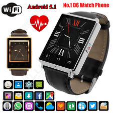 No.1 D6 Android 5.1 3G Smart Watch Phone Heart Rate 1GB+8GB Google Play GPS WIFI