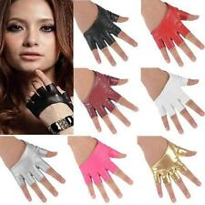 Half Finger PU Leather Gloves Ladys Driving Show Gloves Evening Party Show Glove