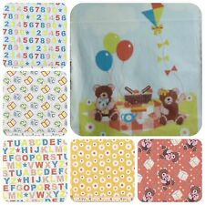 PATCHWORK/CRAFT FABRIC TEDDY BEARS PICNIC 100% COTTON PANEL AND FAT QUARTERS