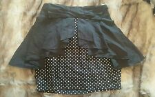 Vintage Pin up Polka dot skirt Bow Detail