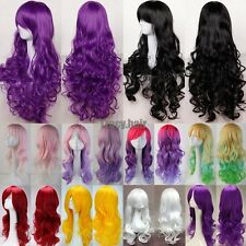 """US Top Sale 24-32"""" Women Long Hair Full Wigs Party Costume Cosplay Wig Halloween"""