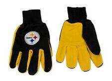 WinCraft NFL Pittsburgh Steelers Two-Tone Gloves, Yellow/Black
