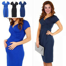 New Pregnant Women Maternity Short Sleeve Casual Dress Cotton Summer Clothes