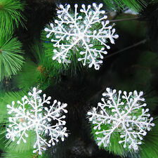 30pcs Classic White Snowflake Ornaments Christmas Xmas Holiday Party Home Decor