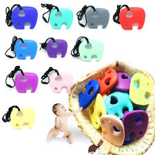 Baby Food Grade Silicone Pacifier Teething Toy Chewing Elephant Pendant Teether.