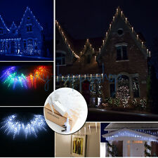 10M 40 LED Icicle String Fairy Lights Christmas Xmas Wedding Party Hallowmas UK