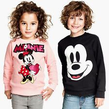Kids Mickey Minnie Mouse Girls Boys Sweatshirt T-shirt Top Jumper Pullover 2-7Y
