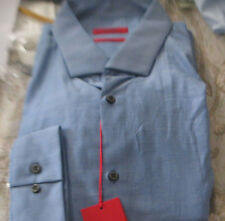 NWT HUGO BOSS SHIRT RED LABEL $125 yr round SLIM  EASTONX MODEL STRIKING BLUE