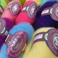 Soft Luxury Angola Mohair Cashmere Wool Yarn Skein Lot Wholesale Multi-Coloured