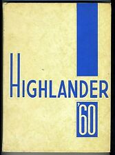1960 Highland Park High School Highlander Yearbook Texas