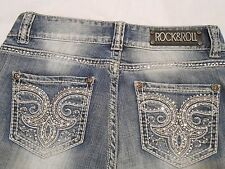 Rock & Roll Cowgirl NWT Juniors Jeans Bootcut Mid Rise W1-8525 Rodeo Bling
