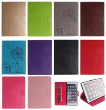 Embossed Dandelion Flower Wallet PU Leather Case Cover for Apple iPad Tablet PC