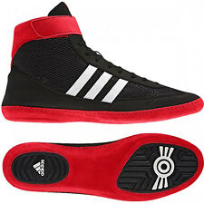 Adidas Combat Speed 4 Wrestling Shoes - Black/White/Red