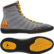 Adidas adiZero Varner High Top Wrestling Shoes - Gray/Black/Solar Gold