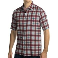 Nat Nast Luxury Originals Men's Austin Plaid Shirt Blue Moon Silk $155 msrp NWT