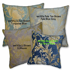 We- Tan Brown Turquoise Blue Grey Cotton Pillow Case/Cushion Cover*Custom Size