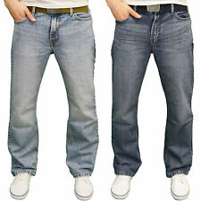 FB Jeans Mens Designer Regular Fit Boot Cut jeans w/Free Belt, BNWT