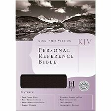 The Holy Bible: King James Version, White Bonded Leather, Personal Reference Bib