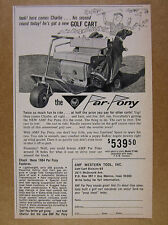 1964 AMF Par Pony Golf Car Cart photo vintage print Ad