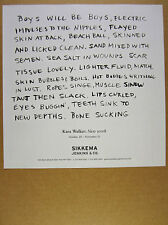 2007 Kara Walker New Work exhibit show promo Sikkema print Ad
