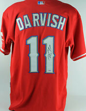 Rangers Yu Darvish Authentic Signed Red Jersey Autographed PSA/DNA #Y02525