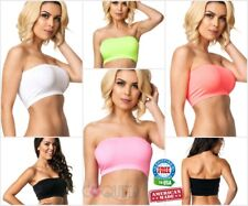 Coqueta Tube Top Bandeau Strapless Yoga Sports Bra Spandex sexy Stretchable new