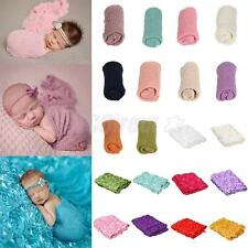 Knit Stretch Wrap Photo Photography Prop/3D Rose Blanket for Infant Newborn Baby
