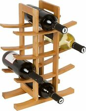 Trademark Innovations Wine Rack Holds 12 Bottles Made from Natural Bamboo New