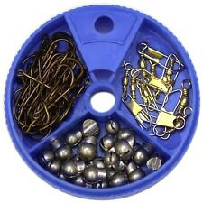 Eagle Claw Hook Swivel and Sinker Assortment 75-Piece New
