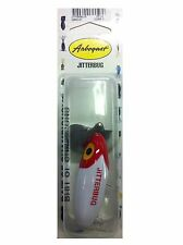 Arbogast Jitterbug Fishing Lure White/Red Head 2 1/in 2 1/2-Inch - 6.35-cm New