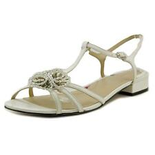 Ros Hommerson Jackie Women US 12 White Sandals NWOB 2254