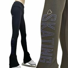Ice Figure Skating Dress Practice Pants Trousers VCSP39 Love Skating pink blue