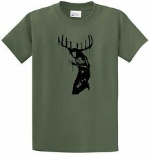 True Detective Girl With Antlers Painting T-Shirt Short Sleeve Cool #Street Wear