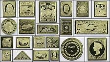 100 Greatest Stamps Collection .925 Silver Replicas North America Postage Stamp