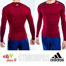 ADIDAS TECHFIT COOL COMPRESSION LONG SLEEVE TEE BASE LAYER TOP JERSEY SIZE XL