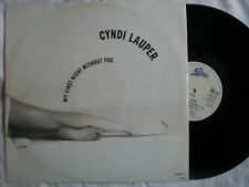 """CYNDI LAUPER My First Night Without You 12"""" vinyl Sound Clip in Listing"""