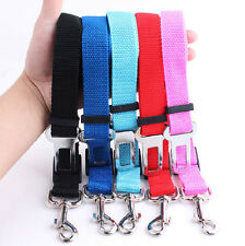 Adjustable Car Seat Belt Dog Pet Safety Travel Harness Restraint Lead Leash New