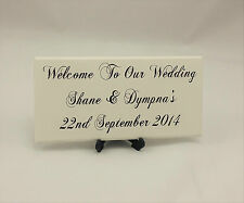 Personalised Welcome to our Wedding Sign Shabby Vintage Chic handmade sign, 052