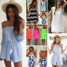 Boho Womens Celeb Shorts Beach Sun Dress Party Evening Playsuit Maxi Jumpsuit