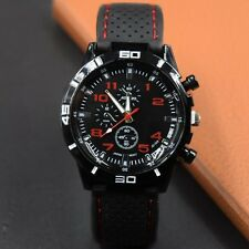 Fashion Cool Mens Racer Military Pilot Aviator Army Silicone Sports Watch