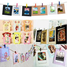 10x Wall Hanging Paper Photo Frame Album Picture Display Rope Clip Home Decor