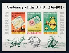 D101058 Centenary of the UPU S/S MNH Barbuda Imperforate